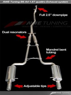 AWE Tuning A4 B6 1.8T Performance Exhaust System AWET0114