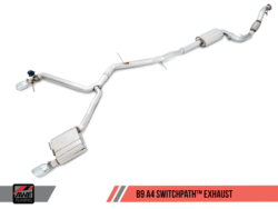 AWE Tuning Audi A4 B9 2.0T Switchpath Exhaust System AWET0093