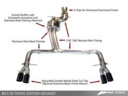 AWE Tuning Audi S5 3.0TFSI Track Edition Exhaust AWET0020