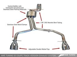 AWE Tuning Audi S5 4.2 Track Edition Exhaust AWET0011