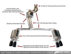 AWE Tuning Audi S5 Cabriolet 3.0TFSI Touring Edition Exhaust + Downpipes AWET0024