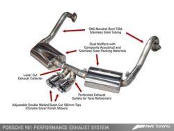 AWE Tuning Porsche 981 Cayman 2.7 Performance Exhaust AWET0162