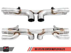 AWE Tuning Porsche 991 GT3 and GT3RS Centre Silencer Delete AWET0159