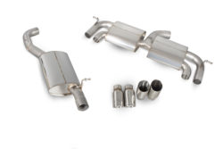 Scorpion VW Golf MK7 R 2.0L (14-16) Resonated Cat-Back Exhaust with No Valves- Polished Quad Daytona Tips – SVW044D