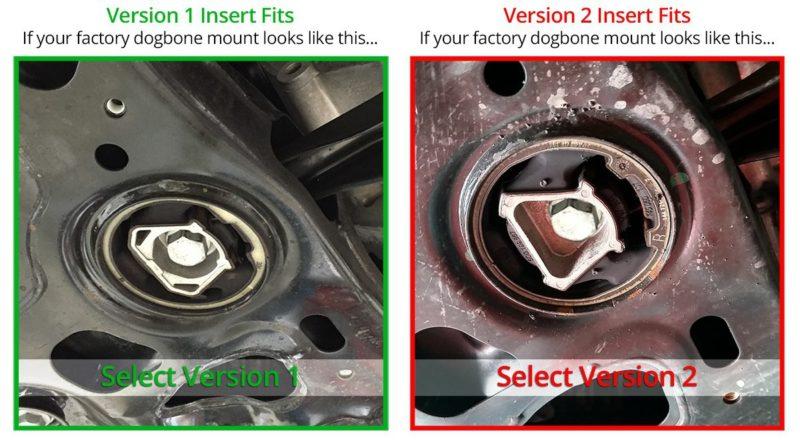 034Motorsport Billet Aluminum MQB Dogbone Mount Insert, MkVII Volkswagen Golf/GTI/R, 8V Audi A3/S3/RS3 & MkIII Audi TT/TTS/TTRS